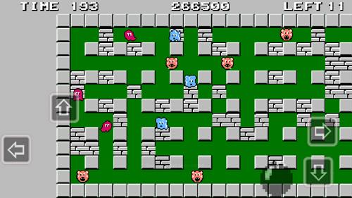 Bomberman на Android - Управление стрелками