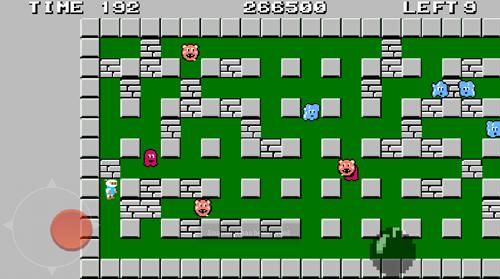 Bomberman на Android - Управление джойстиком