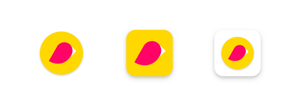 Left to right: original icon, new icon (example), original icon in legacy mode